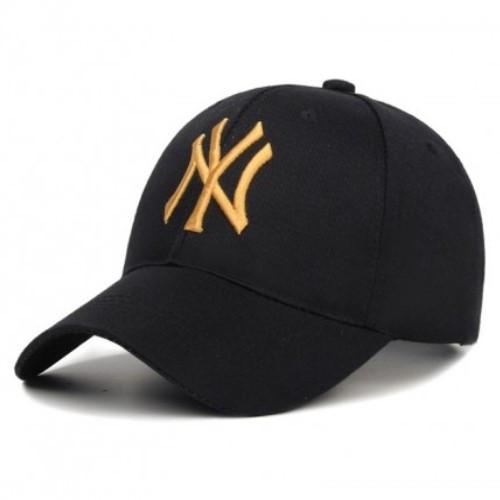Кепка Бейсболка NY (New York) Золотая, Унисекс