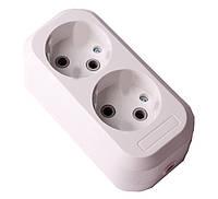 Колодка для удлинителя двухместная без заземления Garant ElectroHouse