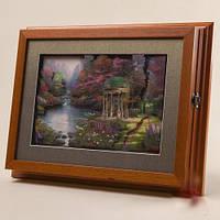 "Ключница-картина 3D ""Беседка у озера"", 35x27 см."