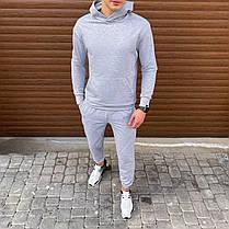 """Чоловіча кофта-худі Pobedov """"97"""" сірого кольору, фото 3"""