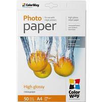 Бумага ColorWay A4 230г Glossy 50c (PG230050A4)