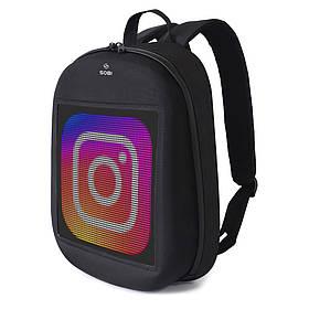 Рюкзак с LED экраном Sobi Pixel SB9702 Black