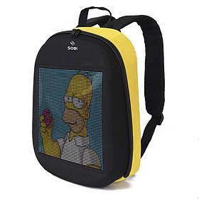 Рюкзак Sobi Pixel SB9702 Yellow с LED экраном