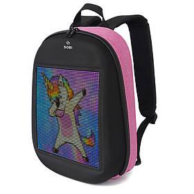 Рюкзак Sobi Pixel SB9702 Pink с LED экраном