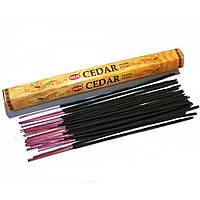 Ароматные палочки Кедр Благовоние Cedar HEM шестигранник 20шт/уп.