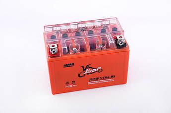 Мото аккумулятор АКБ (Аккумулятор на скутер, мотоцикл, мопед) 12В (V) 9А гелевый (151x86x106, оранжевый) EVO