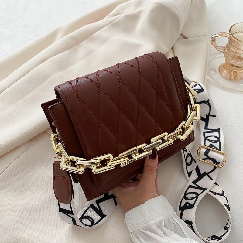Жіноча сумка, екошкіра PU (коричневий)