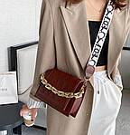 Жіноча сумка, екошкіра PU (коричневий), фото 2