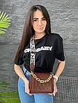Жіноча сумка, екошкіра PU (коричневий), фото 5