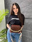 Жіноча сумка, екошкіра PU (коричневий), фото 3