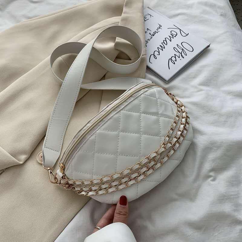 Жіноча сумка, екошкіра PU (білий)