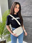 Женская сумка, экокожа PU (белый), фото 4