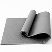 Коврик для фитнеса, йоги и спорта (каремат, мат спортивный) FitUp Lite 8мм (F-00011) Серый
