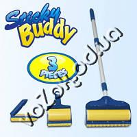 Набор щеток валиков Sticky Buddy Pro 3  (Стики Бадди Про 3) со шваброй для чистки ковра, фото 1