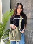 Жіноча сумка, екошкіра PU (зелений), фото 2