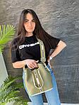 Жіноча сумка, екошкіра PU (зелений), фото 4