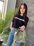 Жіноча сумка, екошкіра PU (зелений), фото 5