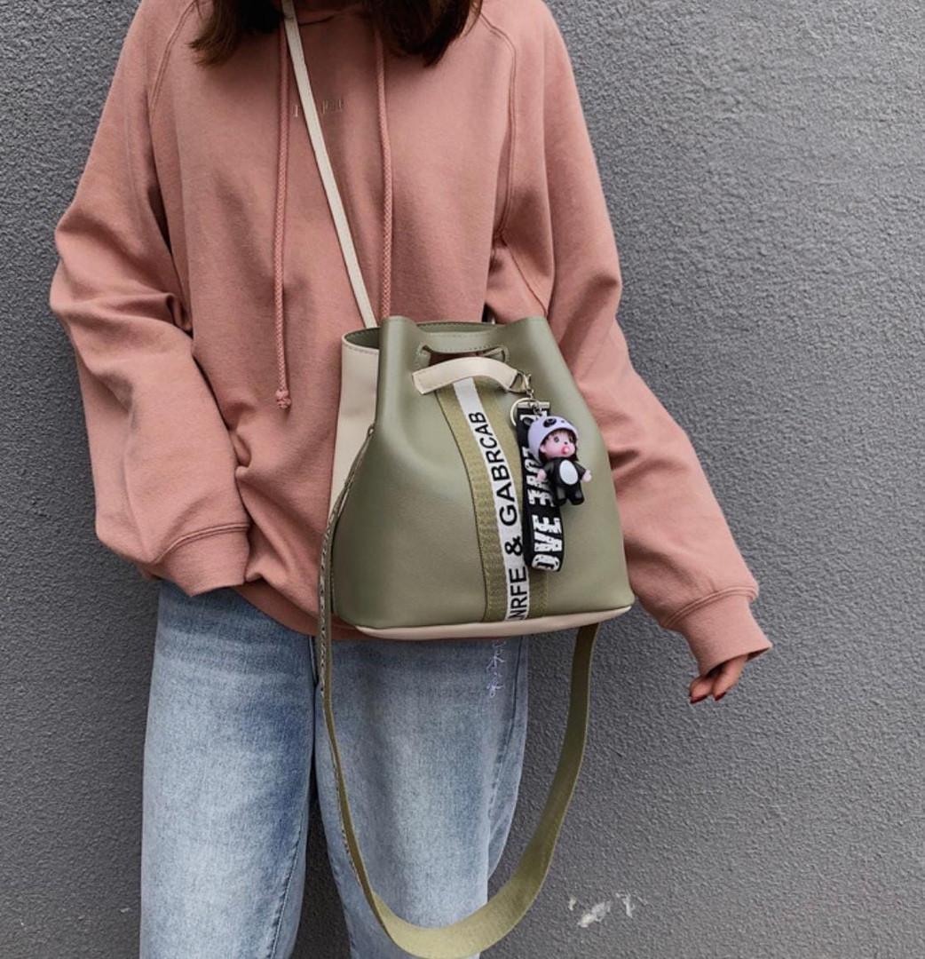 Жіноча сумка, екошкіра PU (зелений)