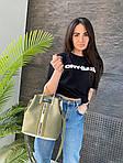 Жіноча сумка, екошкіра PU (зелений), фото 3