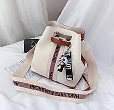 Женская сумка, экокожа PU (белый)