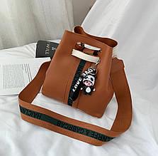Женская сумка, экокожа PU (коричневый)