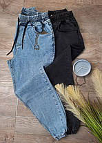Мужские зауженные джинсы-джоггеры голубого цвета, размеры L, XL, фото 3