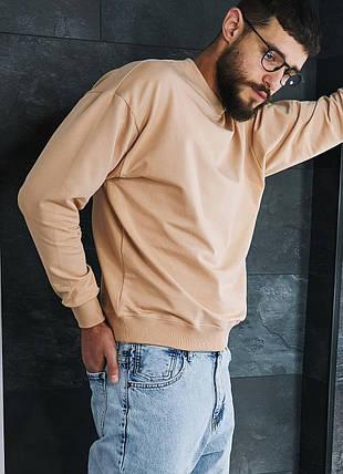Свитшот мужской oversize бежевого цвета, фото 2