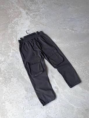 Мужские прямые джинсы-карго черного цвета, фото 2