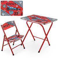 Детский столик A19-SPORT, спорт, со стульчиком