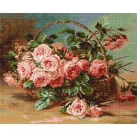 """Набор для вышивания крестом """"Ваза с розами"""""""
