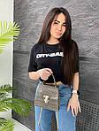 Женская сумка, экокожа PU (серый), фото 3