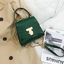 Женская сумка, экокожа PU (зелёный)