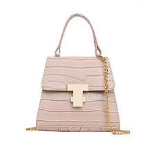 Женская сумка, экокожа PU (бежевый)