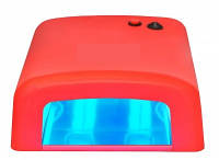 УФ лампа для сушки геля, гель-лака на 36 Вт, красная