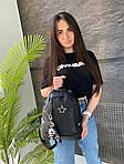 Женский рюкзак, плащёвка (чёрный), фото 2