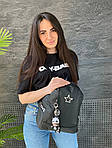 Женский рюкзак, плащёвка (чёрный), фото 3
