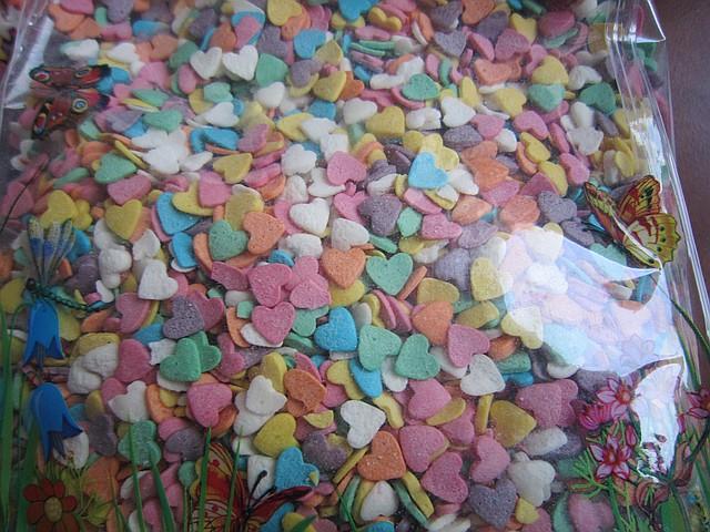 "Посыпка ""Сердца разноцветные "" 750 г (код 01857)"