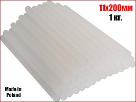 Комплект бесцветных клеевых стержней 1кг 11х200 мм Vorel 73300