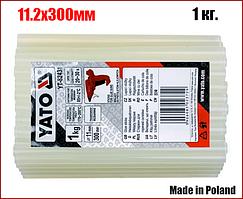 Комплект бесцветных клеевых стержней 1кг 11.2х300 мм Yato YT-82431
