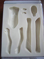 """Набор силиконовых молдов части тела""""Фея"""" (код 01877)"""