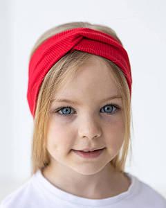 Повязка на голову - чалма подвійна для маленьких дівчаток оптом- Артикул 2844