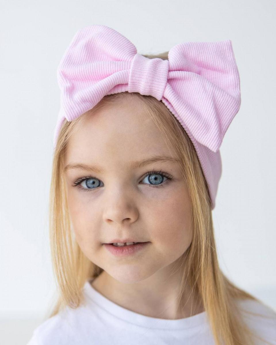 Пов'язка на голову з бантиком для маленьких дівчаток оптом - Артикул 2843