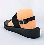 Женские Сандалии Босоножки Черные Резинка Летняя Обувь (размеры: 43)  - 12-1, фото 3