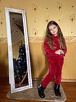 Дитячий велюровий спортивний костюм з капюшоном, фото 1