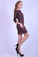 Вечернее платье из сетки с напылением флока 2 цвета
