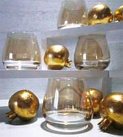 Стаканы для виски и бренди Золотой мед, набор 4шт*300 мл