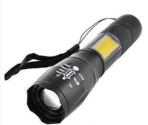 УЦЕНКА! Фонарь аккумуляторный портативный BL-Т6-29 с USB 5385, черный