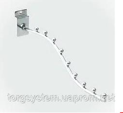 Кронштейн волнообразный для экономпанели, на 9 шариков, L=310мм