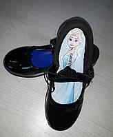 Туфли лаковые на девочку с пряжкой и светящейся подошвой George Frozen размер 34, по стельке 21