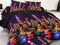 Бязевый комплект постельного белья полуторный размер 150/210 см от производителя